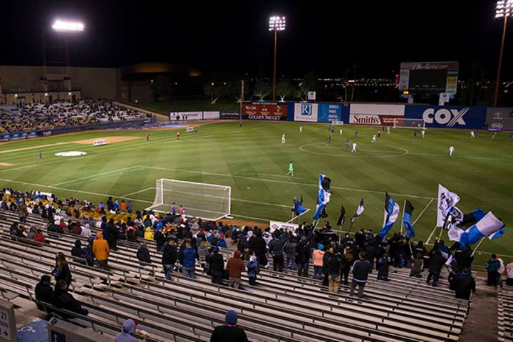 Fans watch the California Clasico men's soccer game between the Los Angeles Galaxy and San Jose ...