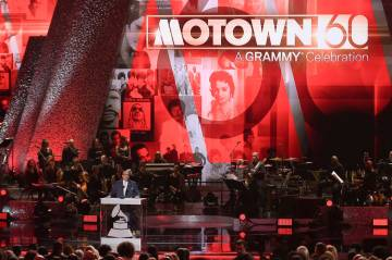 FILE - In this Feb. 12, 2019 file photo, Berry Gordy speaks onstage during Motown 60: A GRAMMY ...