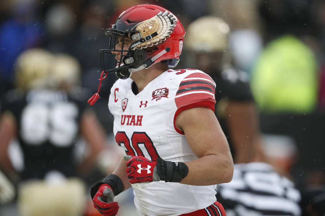 Utah Utes linebacker Cody Barton (30) in the second half of an NCAA college football game Satur ...