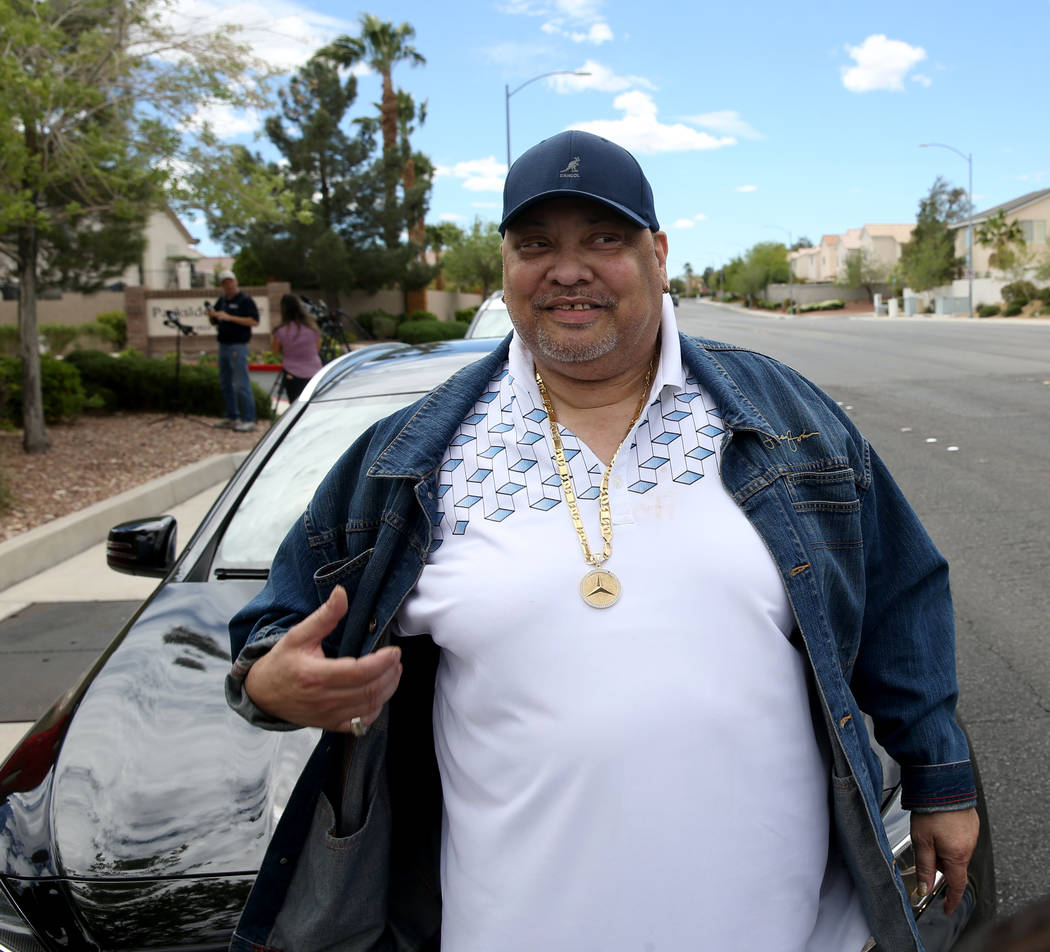 Melvin Spencer, who lives near a house where a fatal shooting occurred in a gated community nea ...
