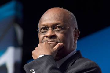 Herman Cain speaks during Faith and Freedom Coalition's Road to Majority event in Washington on ...