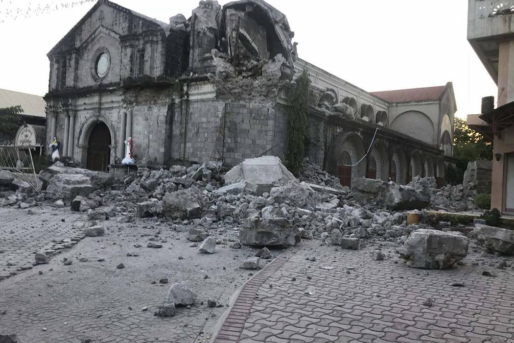 At least 3 dead in northern Philippine quake, dozens missing