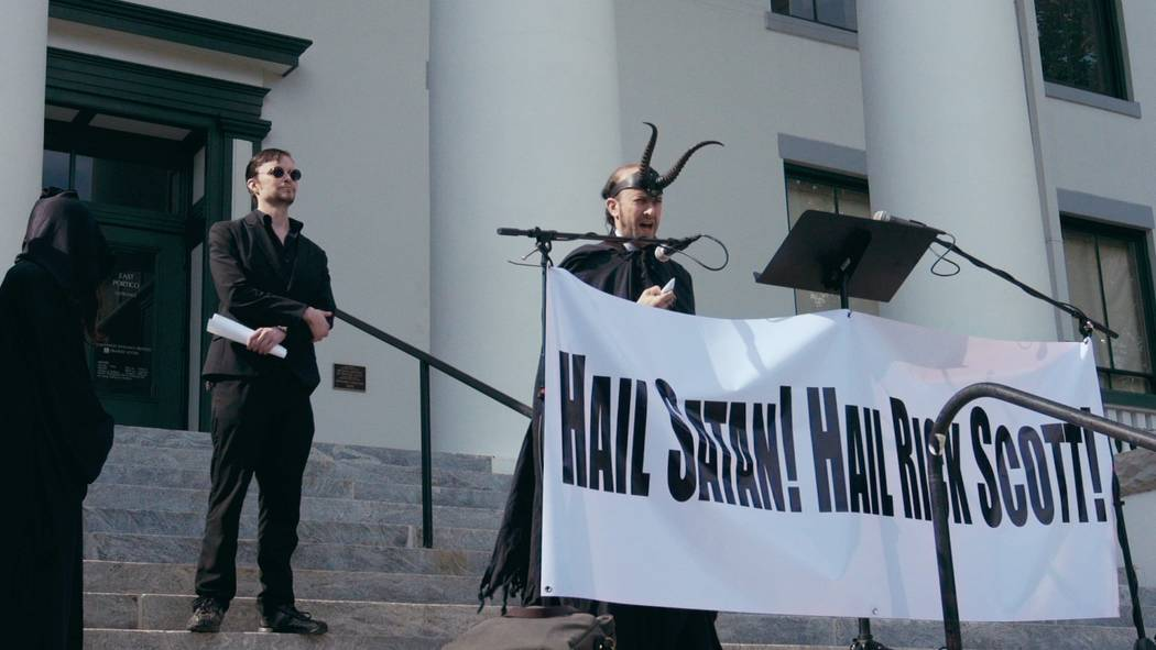 A still from Hail Satan? by Penny Lane, an official selection of the U.S. Documentary Co ...