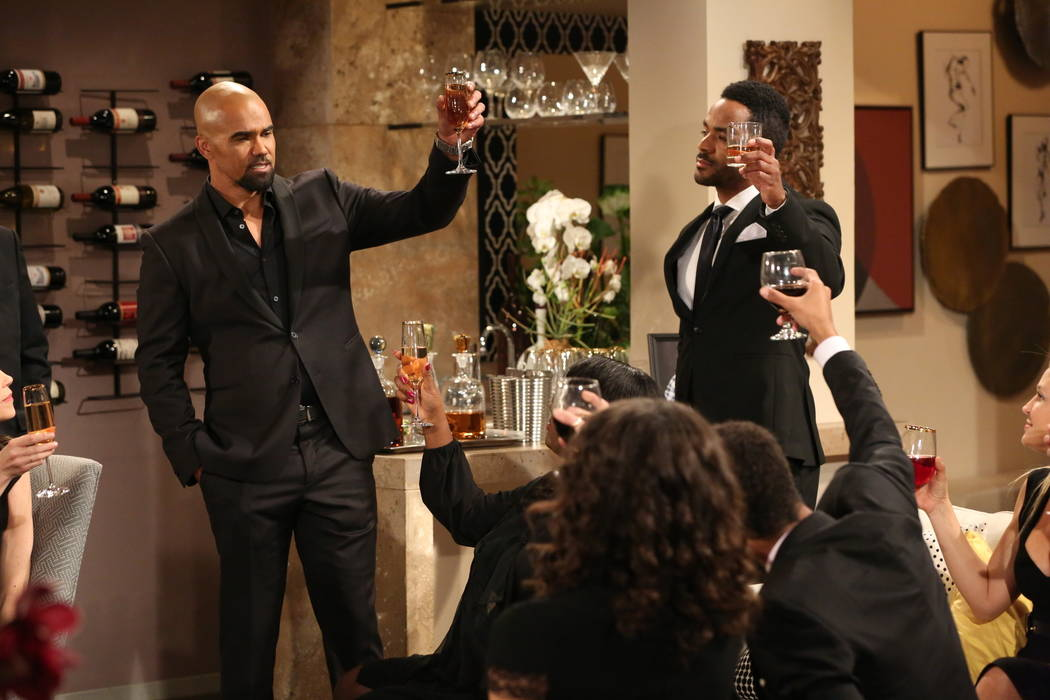 This image released by CBS shows Shemar Moore portraying Malcolm Winters, left, in a scene hono ...