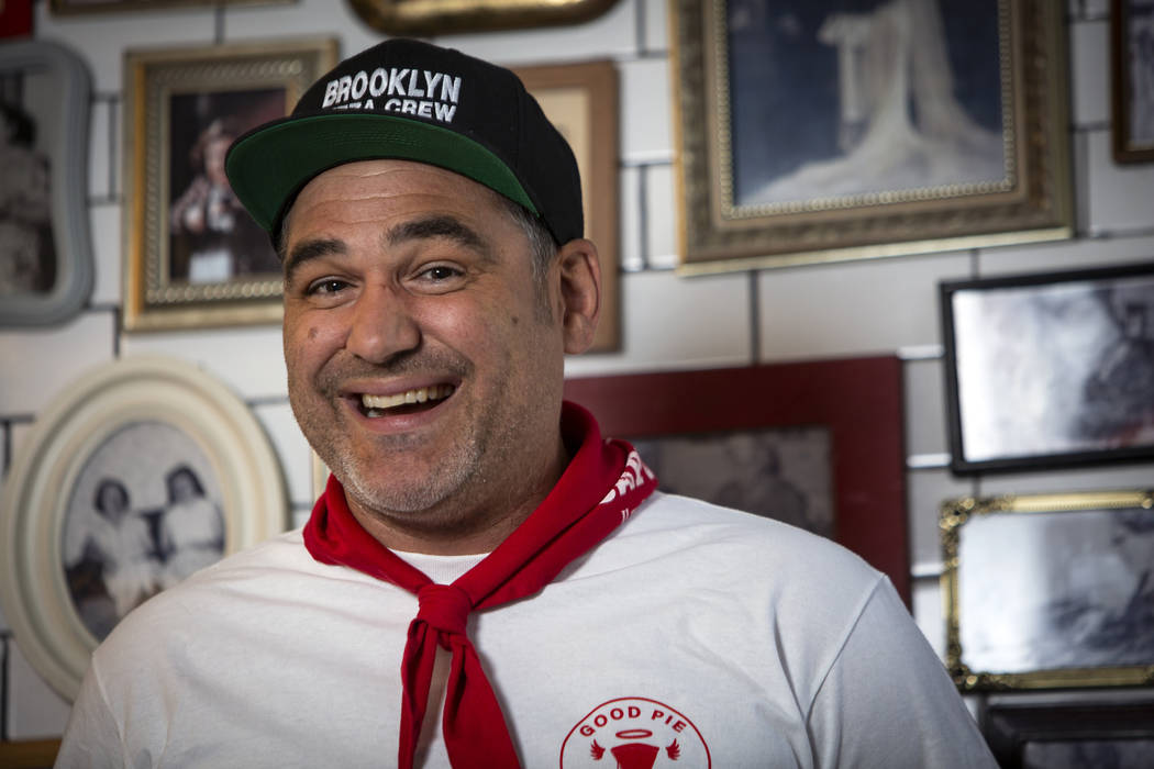 Vincent Rotolo poses for a portrait inside Good Pie at Pawn Plaza in Las Vegas, Thursday, April ...