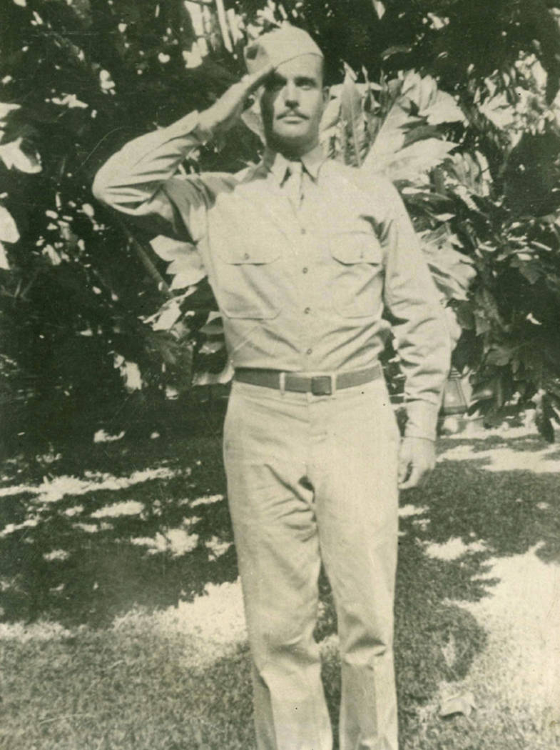 FILE - This 1942 file photo provided by Dale Ross shows his uncle, Pfc. Dale W. Ross, in Hawaii ...