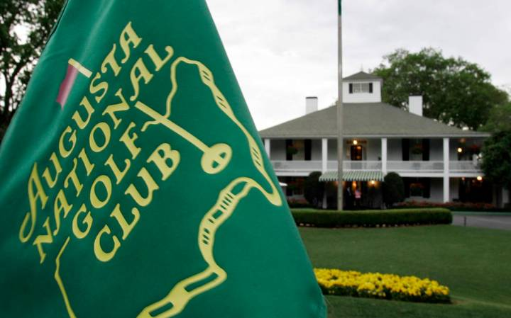 FILE - In this April 4, 2007, file photo, cloudy skies appear above the clubhouse at the August ...
