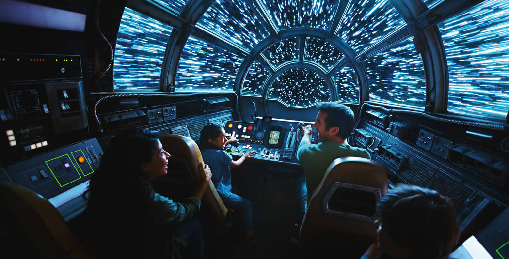 Inside Millennium Falcon: Smugglers Run, Disney guests will take the controls in one of three u ...