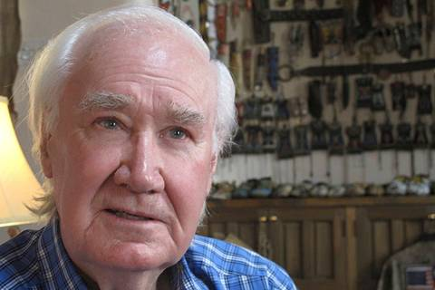In this March 22, 2013 file photo, Forrest Fenn sits in his home in Santa Fe, N.M. (AP Photo/J ...