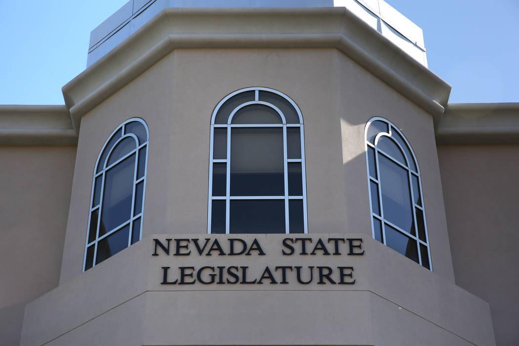The Nevada State Legislature building in Carson City. (David Guzman/Las Vegas Review-Journal @d ...