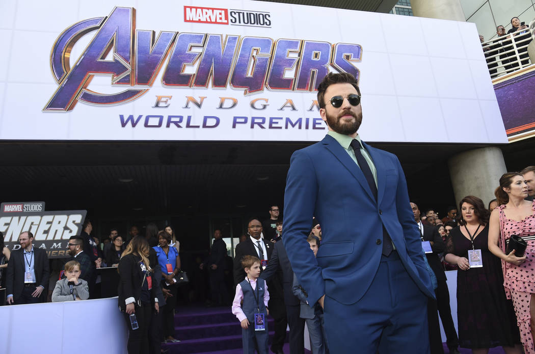 """Chris Evans arrives at the premiere of """"Avengers: Endgame"""" at the Los Angeles Convent ..."""
