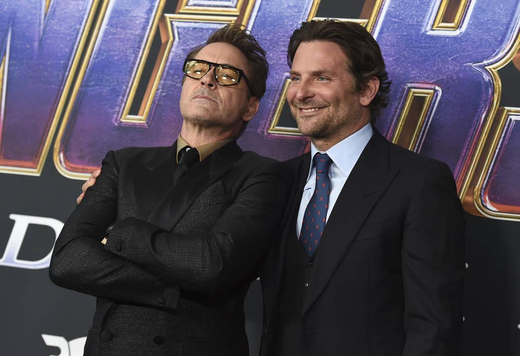 "Robert Downey Jr., left, and Bradley Cooper arrive at the premiere of ""Avengers: Endgame&q ..."