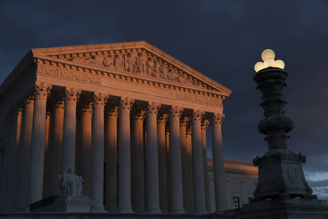 The Supreme Court is seen at sunset Jan. 24, 2019, in Washington. Vast changes in America and t ...
