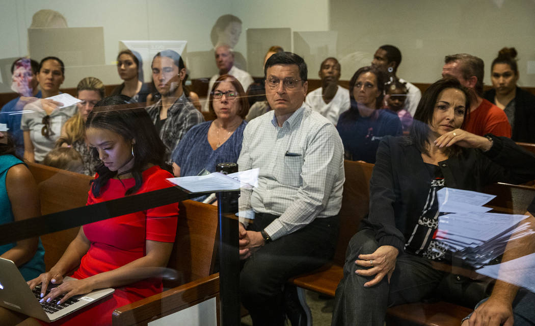 Family members and supporters watch from the gallery as former Metro officer Pamela Bordeaux, c ...