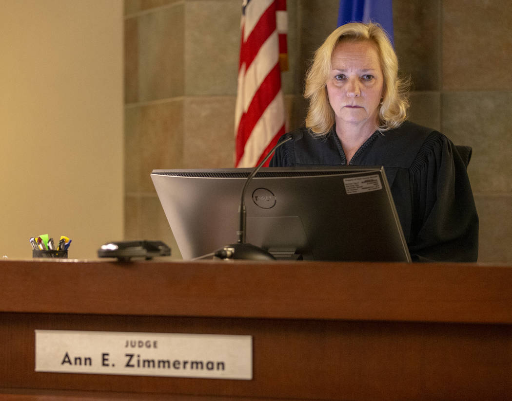 Judge Ann E. Zimmerman presides as former Metro officer Pamela Bordeaux, charged with murder, h ...