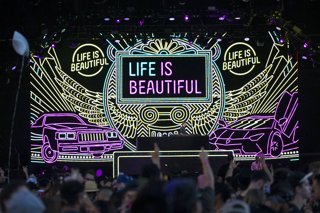Dutch DJ Sam Feldt performs at the Fremont stage on day two of the annual Life is Beautiful fes ...