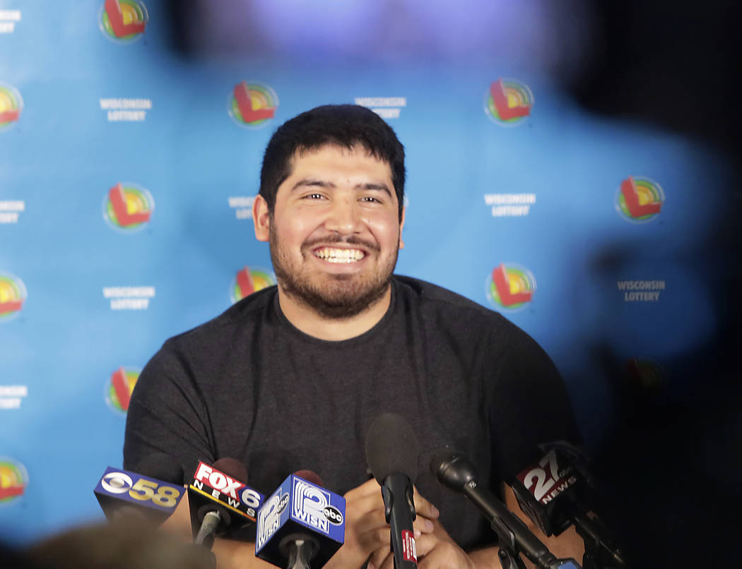 Manuel Franco of West Allis, Wis., winner of second-highest Powerball lottery in history, appea ...