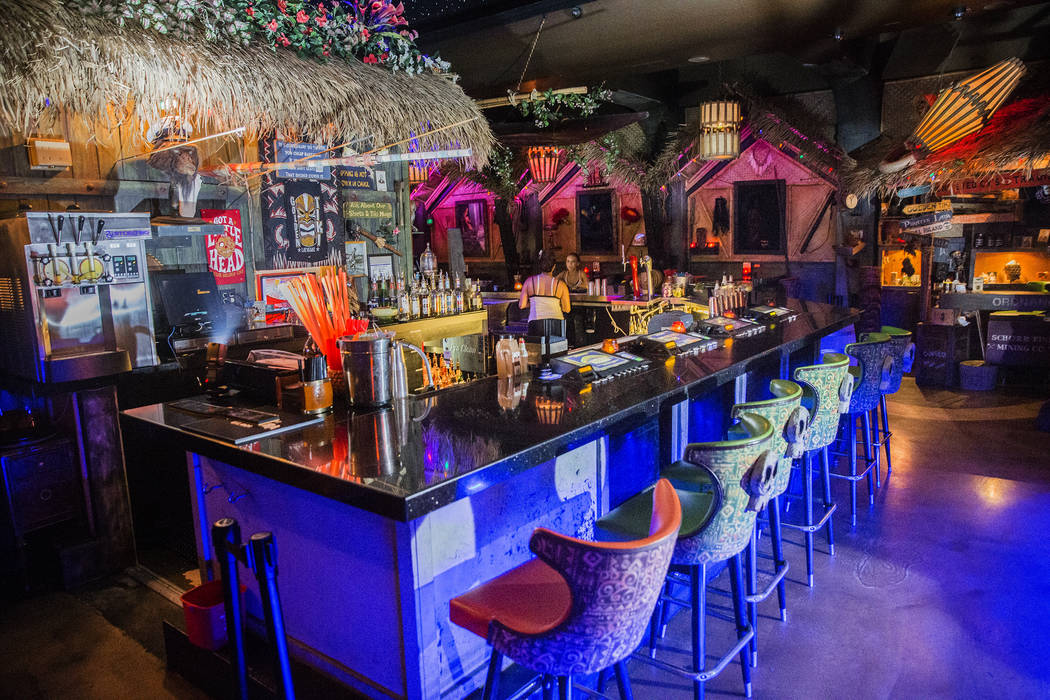 The beach-inspired bar at The Golden Tiki on Wednesday, Aug 16, 2017, in Las Vegas. (Benjamin H ...