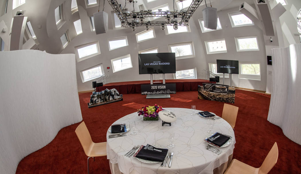 The interior of the Cleveland Clinic Lou Ruvo Center for Brain Health is shown on Monday, April ...