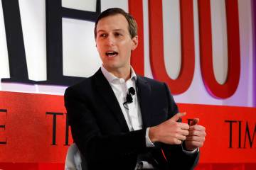 Jared Kushner, Senior Adviser to President Donald Trump, speaks during the TIME 100 Summit, in ...