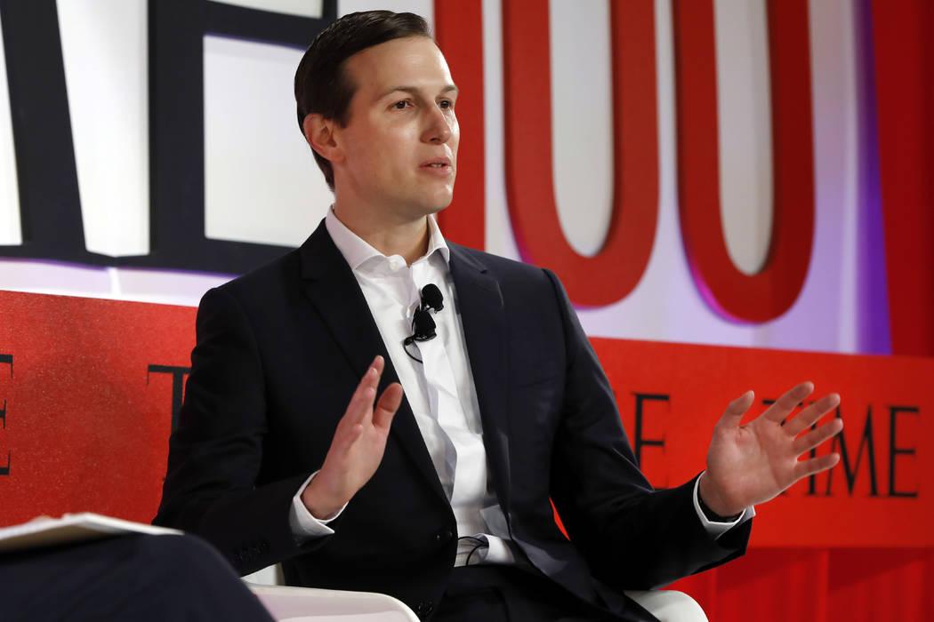 Jared Kushner, Senior Adviser to President Donald Trump, speaks during the TIME 100 Summit, in ...