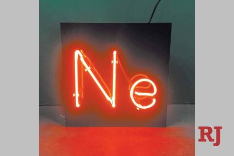 Will Durham commissioned this sign made out of neon that shows the chemical symbol of neon. (Wi ...