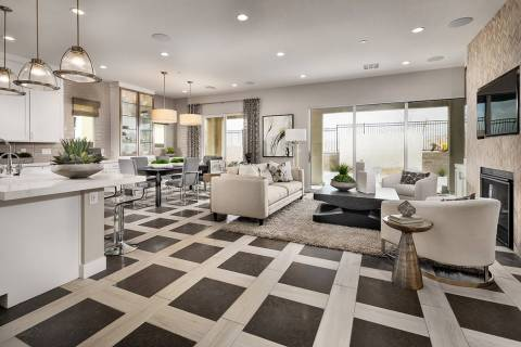On April 27, Toll Brothers at Inspirada will showcase four decorated model homes in its Vistama ...