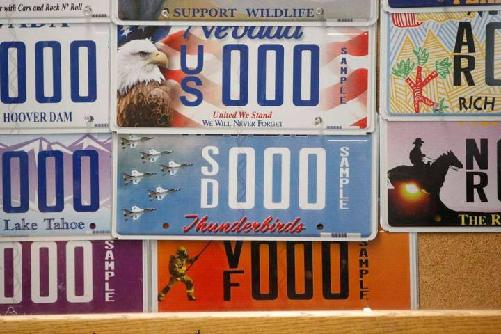 There were 282,271 active specialty plates on Nevada vehicles as of June 30, 2018, generating $ ...