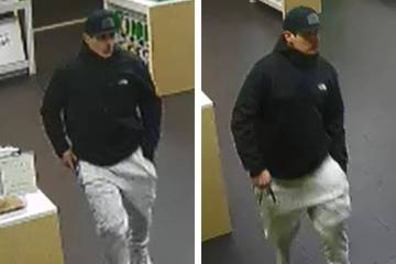 Police are looking for this man suspected in an armed robbery of a business Tuesday, April 16, ...