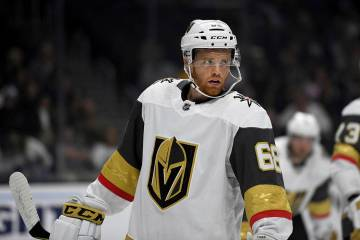 Vegas Golden Knights center T.J. Tynan (68) in action during a preseason NHL hockey game agains ...