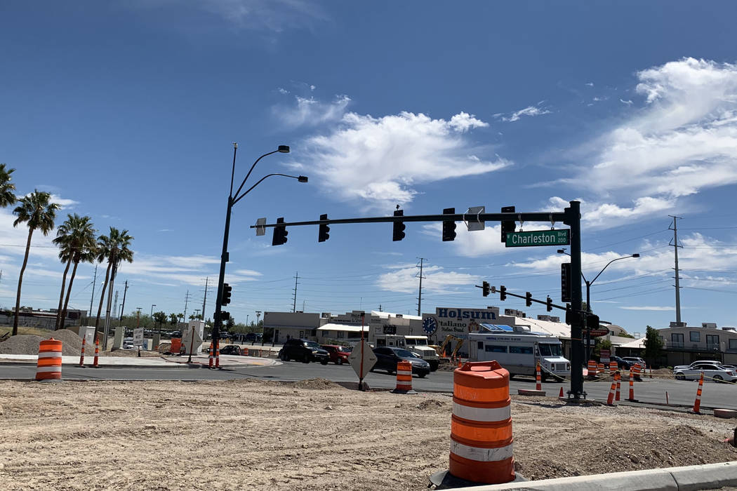 Portions of Charleston Boulevard in will shut to traffic for nine days starting at 6 a.m. Thurs ...