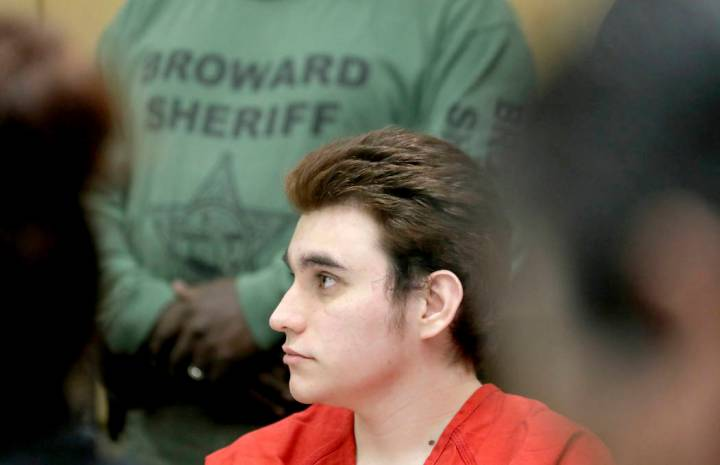 Parkland school shooting suspect Nikolas Cruz listens in court for a defense motion at the Brow ...