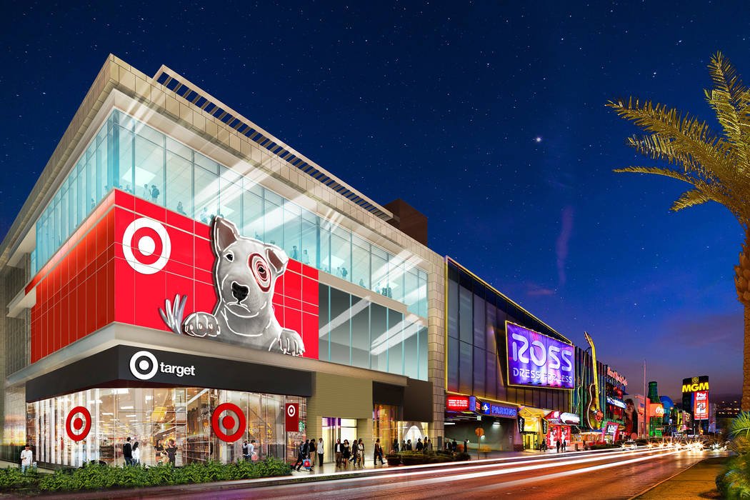 Target announced plans in August 2018 to open a 20,000-square-foot store on the Las Vegas Strip ...