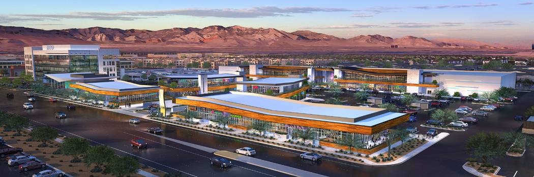 The Bend, a retail project in the southwest Las Vegas Valley, a rendering of which is seen here ...