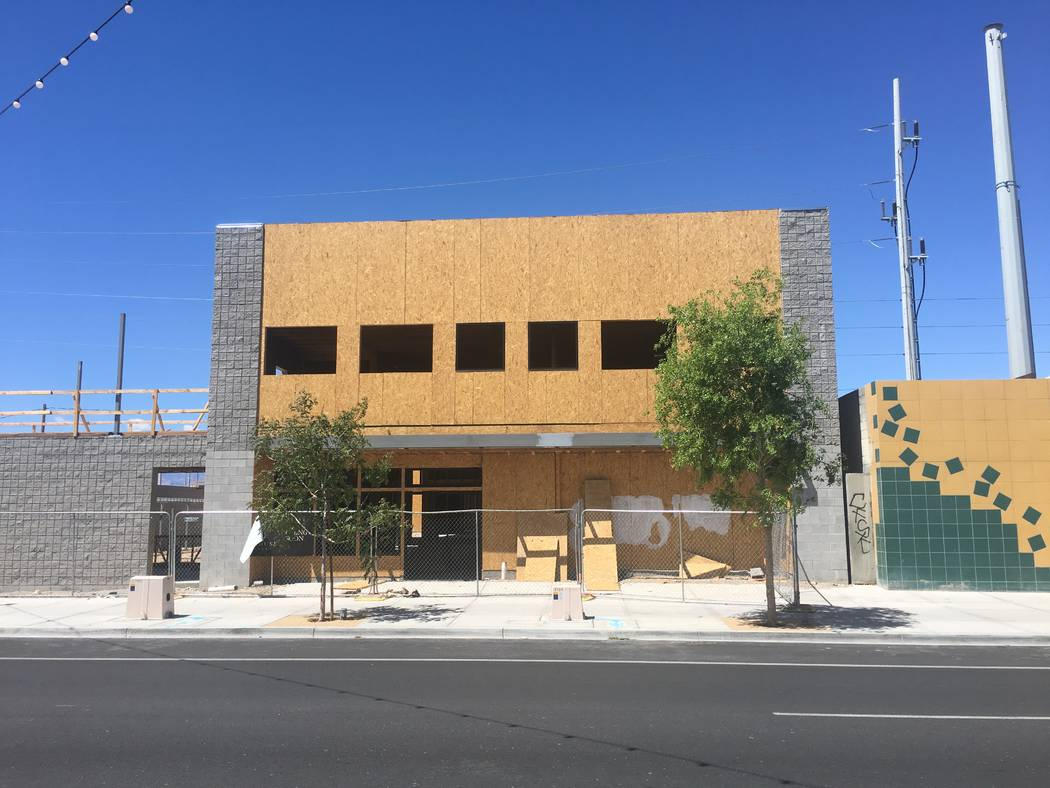 The unfinished Treehouse Las Vegas project is seen Wednesday, April 10, 2019. (Eli Segall/Las V ...