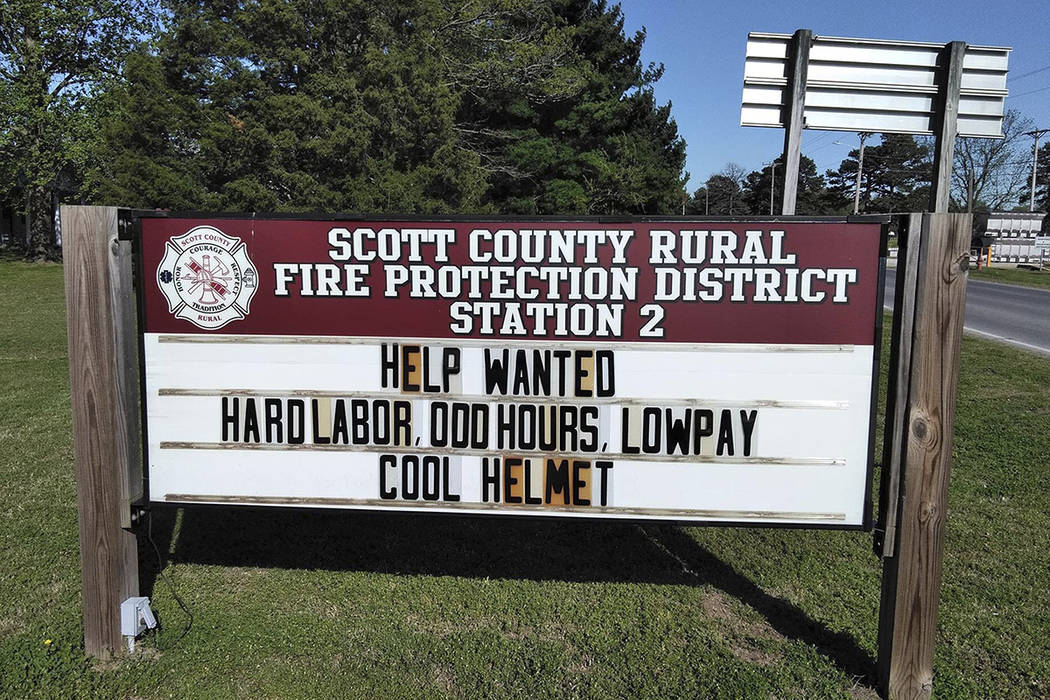 This April 20, 2019 photo provided by the Scott County, Mo., Rural Fire Protection District sho ...