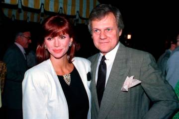FILE - This June 13, 1986 file photo shows actress Victoria Principal, left, and actor Ken Kerc ...
