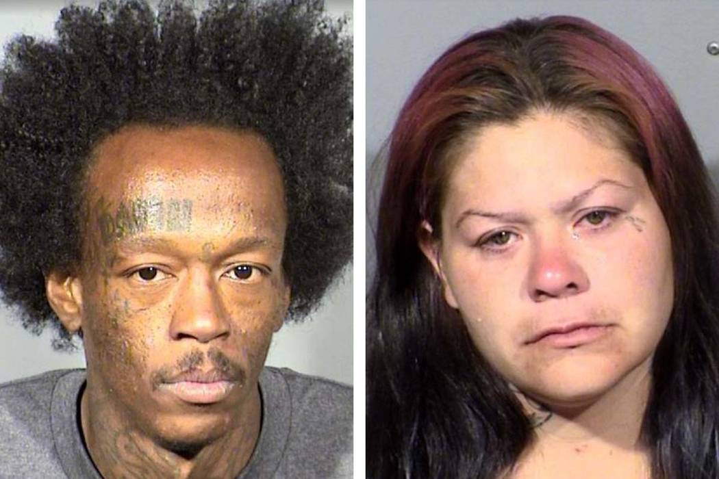 Jason Washington, left, and Ashley Duque (Las Vegas Metropolitan Police Department)