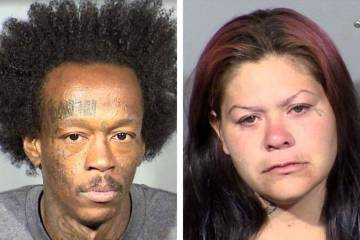 Jason Washington, left, and Ashley Duque (Las Vegas Metropolitan Police Department)