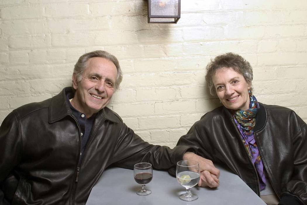 In this April 8, 2004 file photo, playwright Mark Medoff, left, and actress Phyllis Frelich pos ...