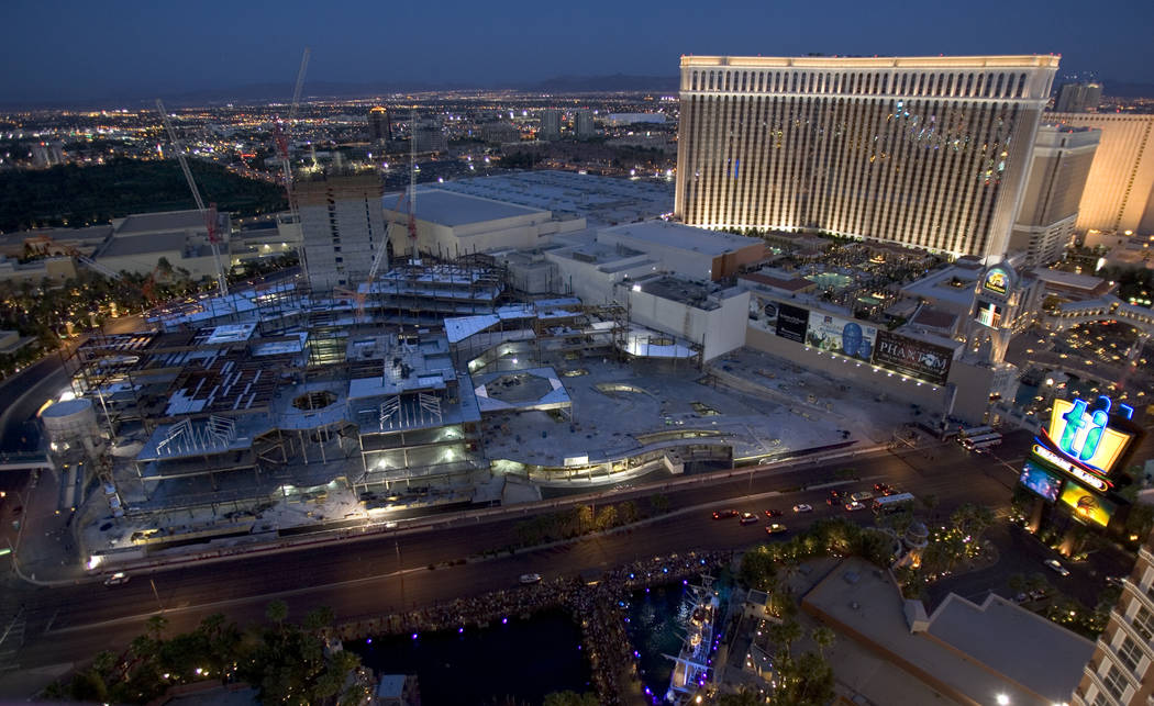 Construction on the Palazzo, adjacent to the Venetian on the Strip, continues Tuesday, June 13, ...