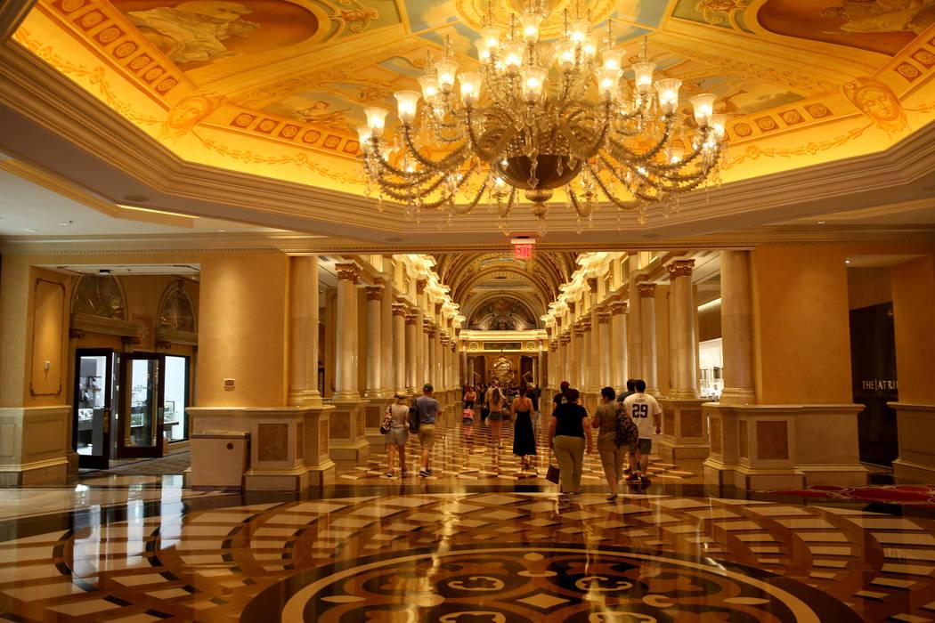 The Grand Colonade at The Venetian on the Strip in Las Vegas Thursday, April 25, 2019. The Vene ...