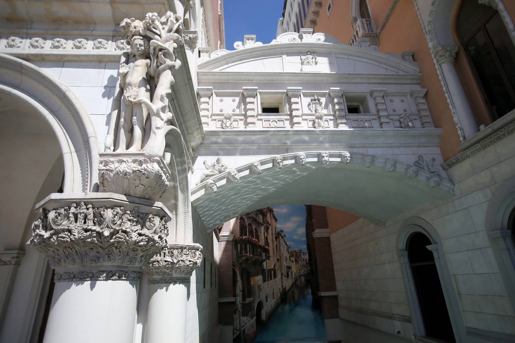 The Venetian on the Strip in Las Vegas Thursday, April 25, 2019. The Venetian, which opened May ...