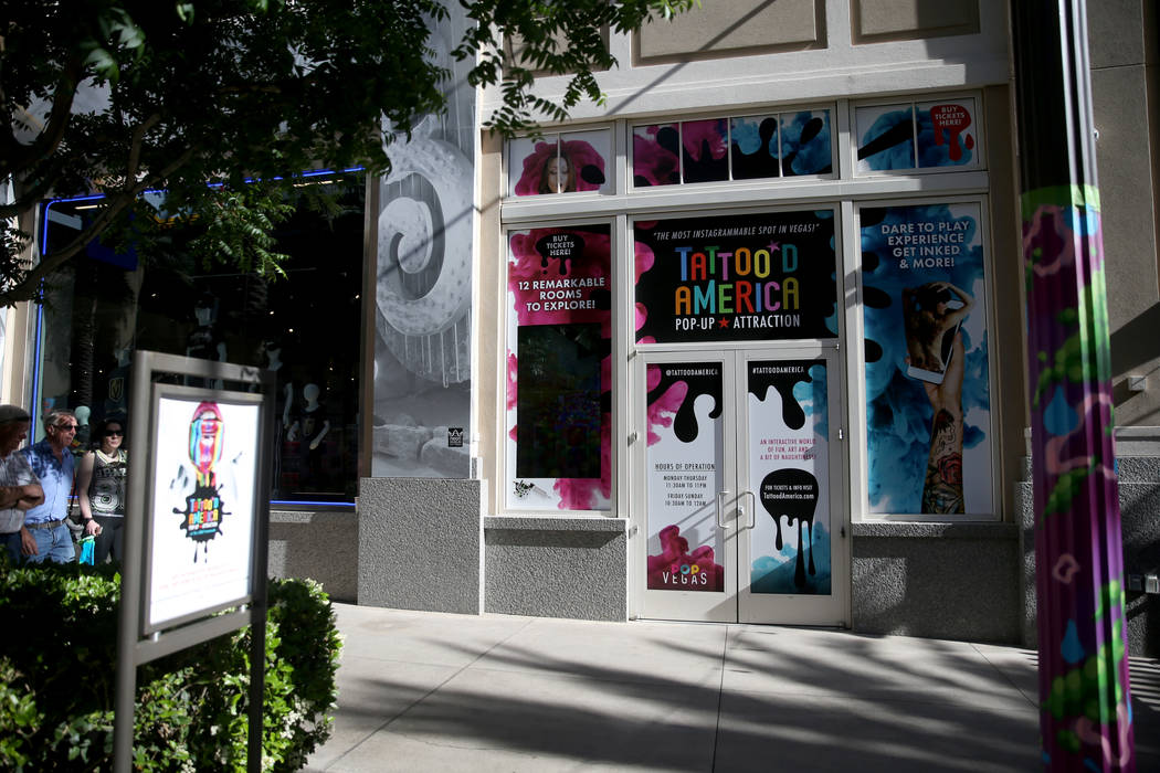 Tattoo'd America attraction inside Pop Vegas at the Linq Promenade Wednesday, April 24, 2019. ( ...