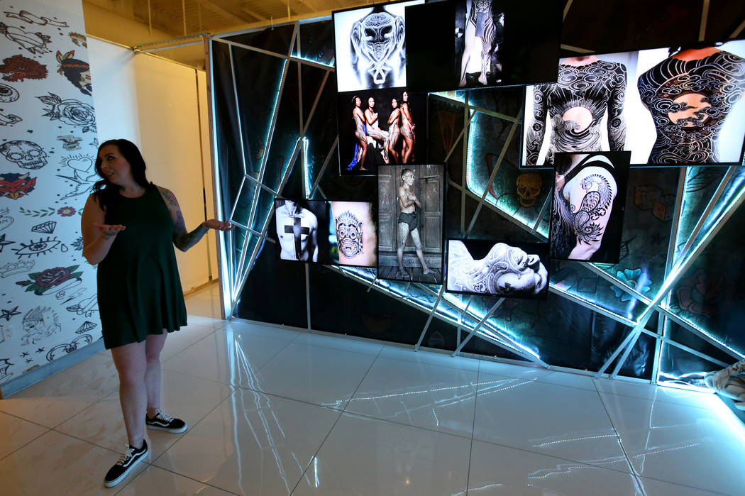 Kassandra Lopez, general manager of Tattoo'd America attraction inside Pop Vegas at the Linq Pr ...