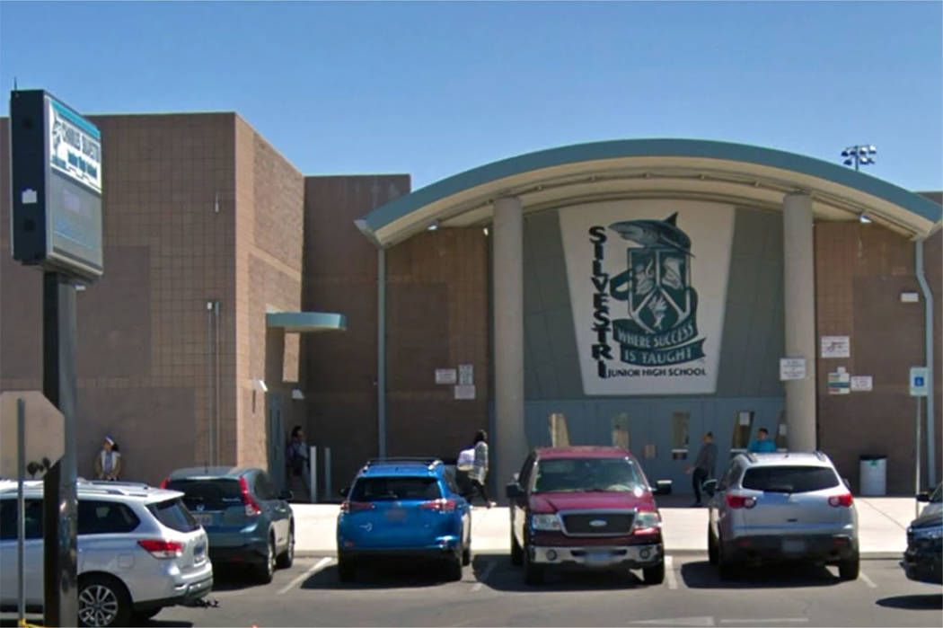 Silvestri Junior High School in Las Vegas (Google maps)