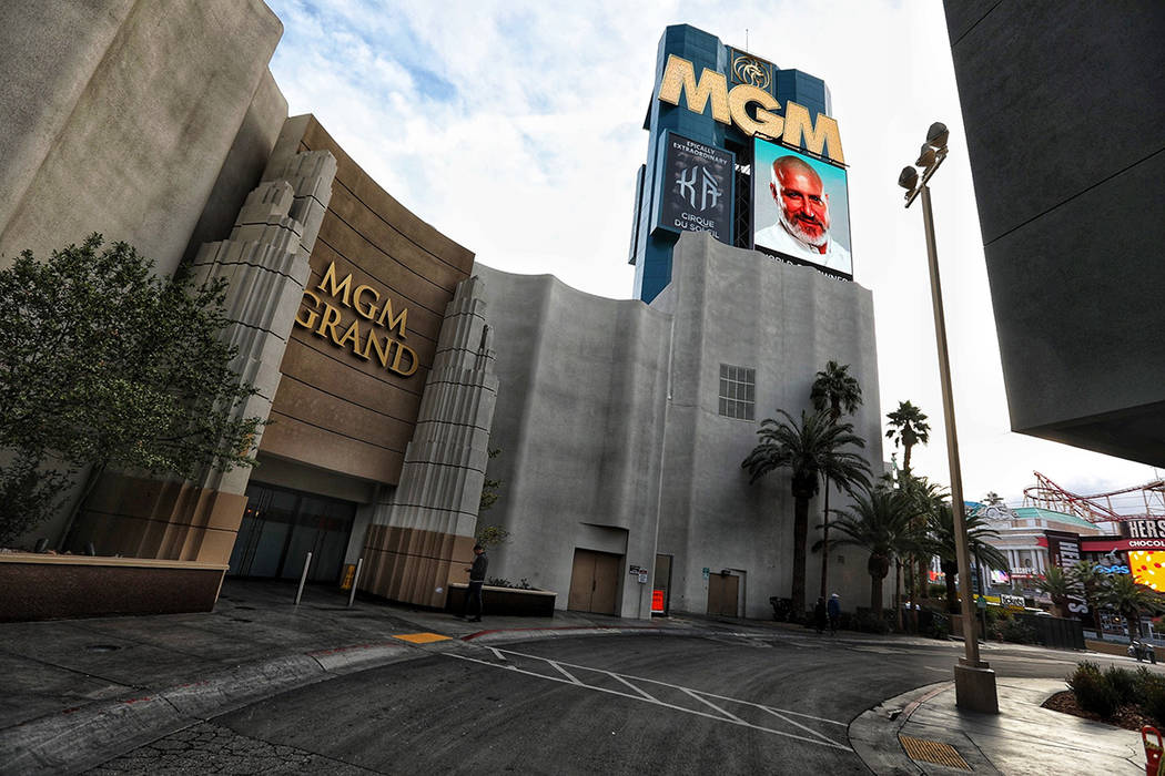 Entrance to the West Wing at MGM Grand just off the Strip, seen Wednesday, Jan. 16, 2019. (Todd ...