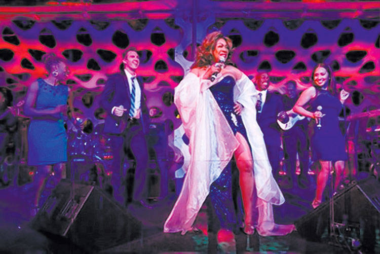 """Mary Wilson performs at the """"One Night for One Drop"""" after-party at Bellagio in Las Vegas in 20 ..."""
