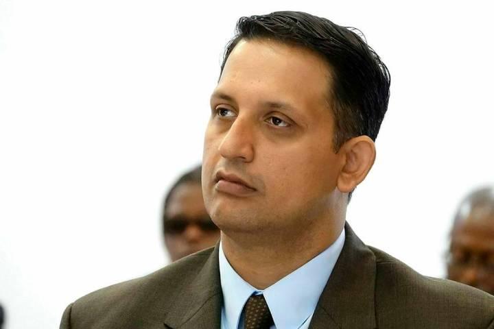 FILE - In this Thursday, Feb. 28, 2019, file photo, Nouman Raja listens to testimony during his ...