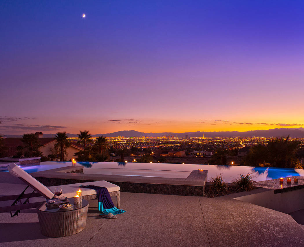 The home has sweeping views of the Las Vegas Valley. (Sotherby's International Realty, Synergy)